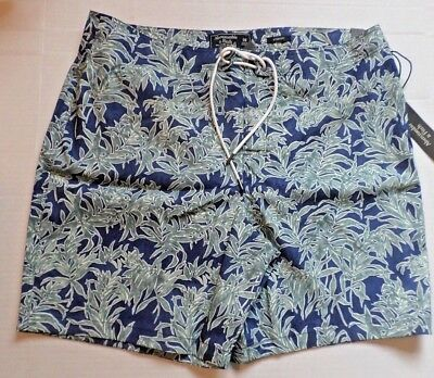 NWT Abercrombie & Fitch Mens Size 36 Blue Print Classic Fit Swim Board Short NEW