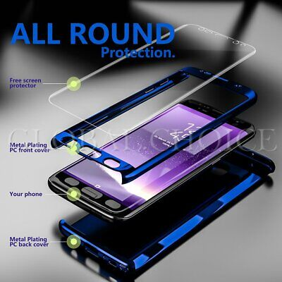 For Samsung Galaxy Note 8 S8 Plus 360° Full Protection Hybrid Mirror Case Cover