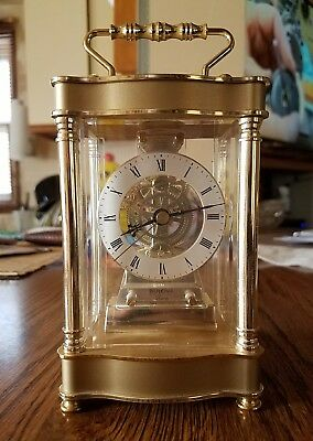 Bulova Carriage clock made in West Germany Battery operated