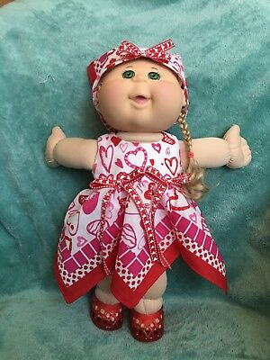 """Valentine hearts bandana dress fits 14"""" CPK--CLOTHES ONLY"""