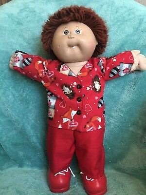 """Woodland creatures Valentine shirt and pants fit 16-17"""" CPK---CLOTHES ONLY"""
