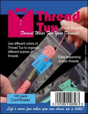 Thread Tux Floss Organizer Thread Dispenser Cornflower 100 Pack