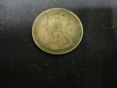 1864 Great Britain one Florin Queen Victoria silver coin