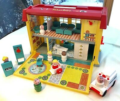 Fisher Price Vintage Children's Hospital original 1976, komplett & guter Zustand