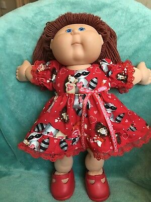 """Woodland creatures Valentin dress fits 16-17"""" CPK--CLOTHES ONLY"""