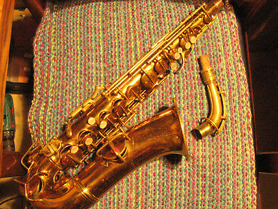 Vintage Conn alto saxophone, early transitional, playing condition!