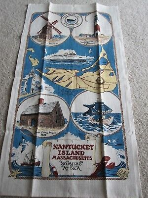 """Vintage Antique Nantucket Island Tapestry - 30"""" tall x 16"""" wide - Great Cond"""