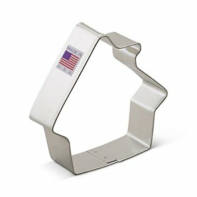 Gingerbread House Cookie Cutter, Ann Clark , Tin Plated Steel, 3.5 Inch