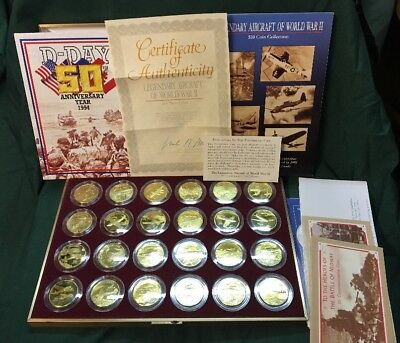Legendary Ww2 Aircraft $10 Commemorative Coins Marshall Islands 24 Coins Wwii