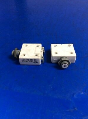 Lot Of 2 Mechanical Products 35AMP 250VAC / 50VDC Circuit Breaker 1600-186-350