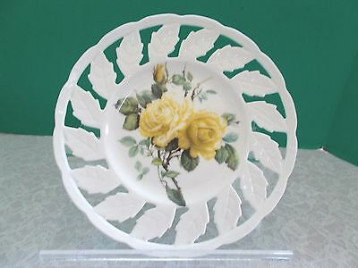 Beautiful Decorative Yellow Rose Plate By I. Godinger & Co.