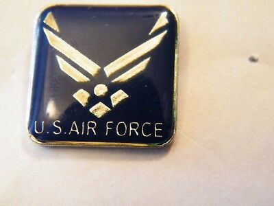 US Air Force Wings logo lapel hat pin   Blue single post butterfly Clutch