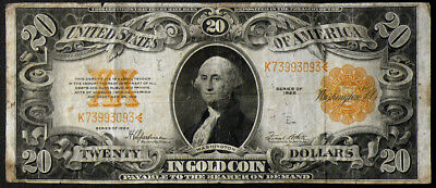1922 $20 Gold Certificate Speelman/White Circulated Condition  FR-1187