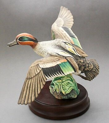 Crown Staffordshire Wildfowl Peter Scott ltd ed European Green-Winged Teal duck