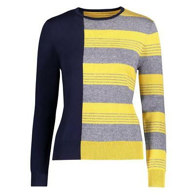YAL NY Womens Color Block Stripe Sweater Pullover Casual Lightweight Long Sleeve