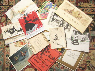 1920's and 1930's Vintage CHRISTMAS Greeting Cards- 2nd  Lot of 15