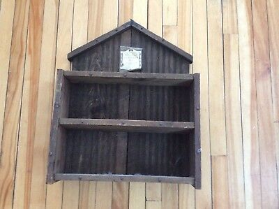 Rustic solid wood antique/vintage door disply/key holder
