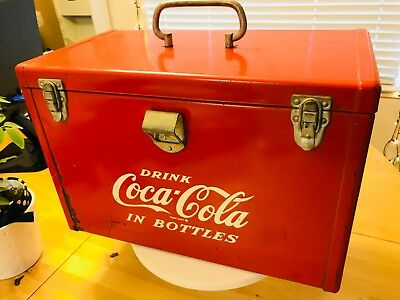 """Vintage 1950s Coca Cola """"Airline"""" Cooler/Ice Chest"""
