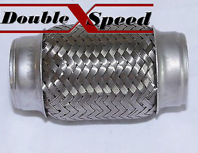 "2 1/4"" SS FLEX PIPE STRAIGHT PIPING CONNECTOR 2.25 exhaust downpipe header cat"