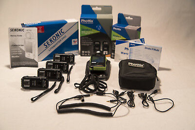Phottix Strato II 3 receivers and 1 transmitter for Nikon plus additional