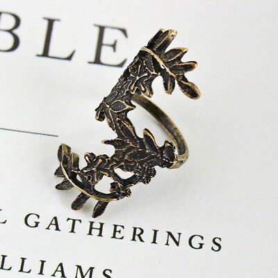 NEW Fashion Vintage Bronze Full Finger Ring Tree Branch Leaf Flower Jewelry X057