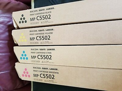 Genuine Ricoh Savin Lanier Toner-Full Set OR Individual MPC5502 New Sealed C4502
