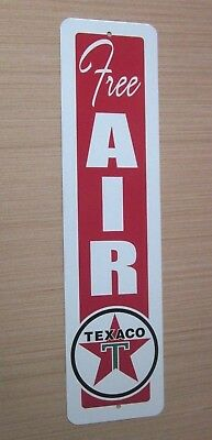Texaco Free Air Sign Eco Meter Gasoline Service Station Gas Pump Tire Inflating