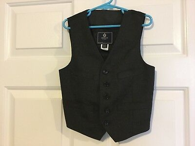 Crewcuts boys Black Suit vest size 6-7