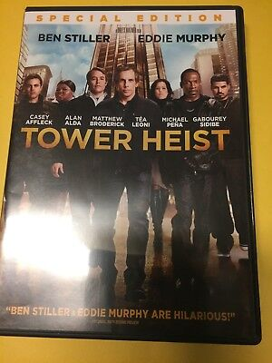 Tower Heist (DVD, 2012, Widescreen) Ben Stiller, Fantastic Shape!!