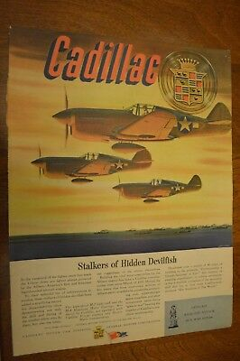 John Vickery Artwork in 1944 Cadillac Makes Allison Air Cooled Engines Ad