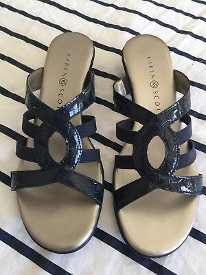 e49074f49d460f Karen Scott Emet Women Open Toe Synthetic Slides Sandal Size 6.5M