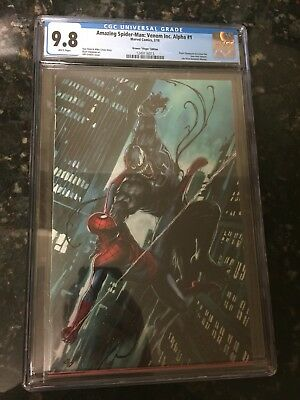 Amazing Spider-Man Venom Inc Alpha #1 Adi Granov Virgin Variant Cgc 9.8