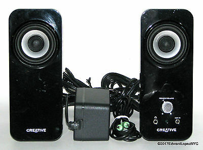 """CREATIVE INSPIRE T12 2.0 Powered Multimedia Speakers - w/AC Adapter & 1/8"""" Cable"""