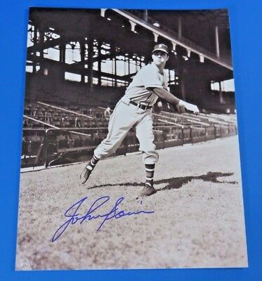 JOHNNY SAIN SIGNED 8x10 PHOTO ~ MILWAUKEE BRAVES ~ BASEBALL AUTOGRAPH