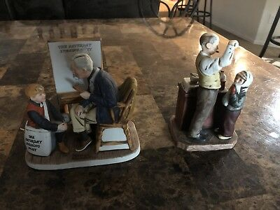 Lot Norman Rockwell Porcelain Figurines/No Boxes
