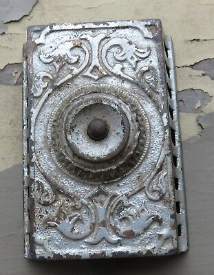 Antique Architectural Cast Iron Push Button Doorbell Box