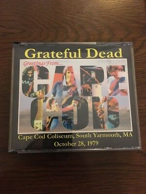 Grateful Dead Jerry Garcia Cape Cod Yarmouth MA October 28, 1979 3CD LIVE