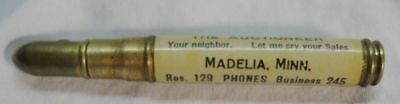 Antique Billiard Parlor Advertising Bullet Pencil Madelia Minn Mn