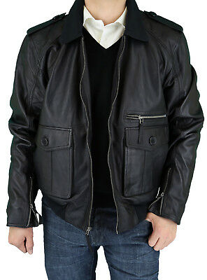Luciano Natazzi Mens Real Lambskin Fine Leather Jacket