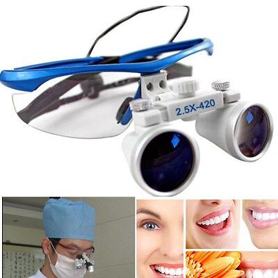 Dental Zahnärzt 2.5X420mm Brillenlupe Lupenbrille Lupe Glasses Binocular Loupes