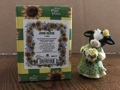 "Enesco Mary's Moo Moos John Deere ""I'm Honored To Be Your Friend""  777862"