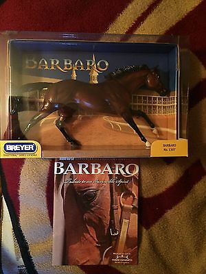 MINT! Breyer #1307 BARBARO w/ Authenticity AND Commemorative Collector's Issue