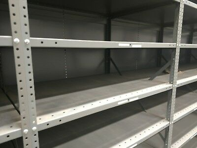 "Industrial metal shelving warehouse racks 41"" wide 30"" deep  14 tall"