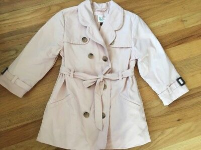 Janie and Jack World's Fair Pink Belted Trench Fall Coat Girls 2/3T jacket