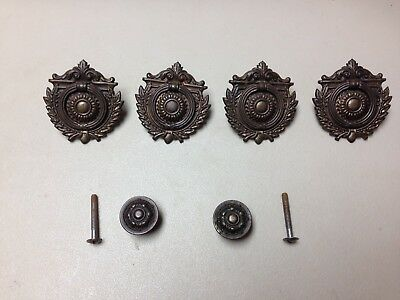 Antique vintage set dresser drawer pulls knobs handles old ornate hardware