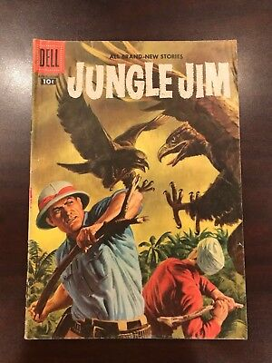 Jungle Jim #12 Mid Grade Silver Age Dell Comic 1957 fine 7.0 ish