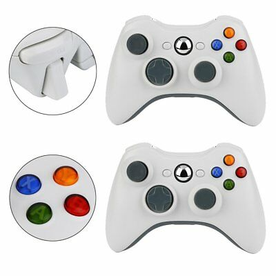 2X OEM Official Genuine Microsoft xbox 360 Wireless Controller (Pure White) EK