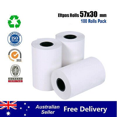 200 Pcs 57x30mm Eftpos Rolls Thermal Paper Cash Register Receipt