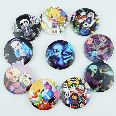 10PC UNDERTALE SANS Papyrus Badge Pin PVC Metrial Brooches Cosplay  Collection NW