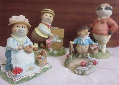 Villeroy & Boch FOXWOOD TALES - PICNIC AT FOXWOOD figurines TIN BOX included
